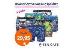 Dagaanbieding Ten Cate boxershorts Print verrassingspakket 4-pack