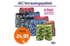 Dagaanbieding JC boxershorts verrassingspakket 6-pack
