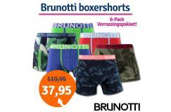 Dagaanbieding Brunotti boxershorts verrassingspakket 6-pack