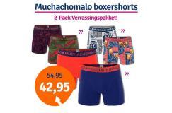 Dagaanbieding Muchachomalo boxershorts verrassingspakket 2-pack
