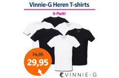 Dagaanbieding Vinnie-G Heren T-shirts 6-pack
