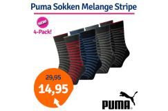 Dagaanbieding Puma Sokken Melange Stripe 4-Pack