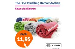Dagaanbieding The One Towelling Hamamdoek