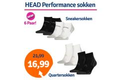 Dagaanbieding HEAD Performance Quarter- of Sneakersokken