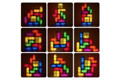 Stapelbaar tetris LED nachtlamp retro-stijl