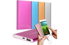 Ultradunne 10000mah Powerbank voor iPhone, Samsung en alle andere Smartphones