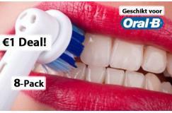 1 EURO ipv 19,95 euro voor 8-Pack Opzetborstels compatible met Oral B Professional Care!