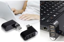 €9.95 ipv 24,95 euro. USB splitter. Sluit op één USB ingang 3 apparaten tegelijk aan en/of laad je apparaten op!