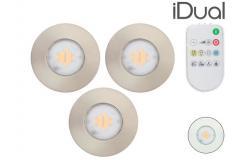 3x iDual IP65 Inbouwspot | LED