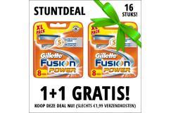 Gillette Fusion Power scheermesjes 1+1 8 pack Gratis