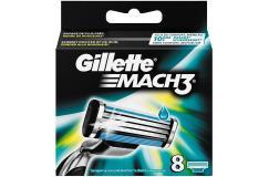Gillette Mach3 Scheermesjes 8 Stuks Verpakking