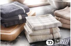 6-pack mooie twentse damast theedoeken en keukendoeken