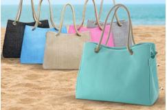 Trendy linnen tas in 6 verschillende kleuren