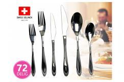72-Delige Swiss Selinex RVS Bestek Set