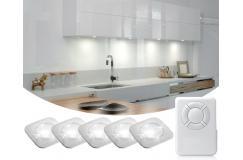 €19,95 ipv €49,95 ? VIJF Draadloze LED Spots met Afstandsbediening en Touch; Makkelijk en overal te monteren