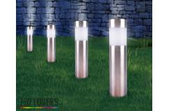 €17,95 ipv €79,95 ? VIER LED Lovers RVS Tuinlampen; Werken op zonne-energie en gaan automatisch aan!