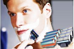 GRATIS ipv € 24,95 - 4-pack scheermesjes, geschikt voor de Gillette Mach3 of Gillette Fusion (power) handheld