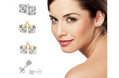 155 euro ipv 485 euro - Echte Diamanten Oorstekers in witgoud zilver roségoud of geelgoud
