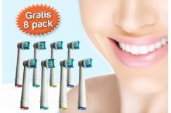 Gratis ipv 29,95 euro 8-pack opzetborsteltjes geschikt voor Oral-B elektrische tandenborstels