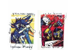 9.95 euro ipv 49.95 euro Herman Brood litho artprint wereldberoemde jazz en poplegendes door Herman Brood , keuze uit 24 stuks