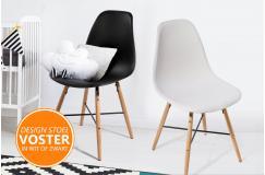 2- of 4-pack Voster Designer Stoelen