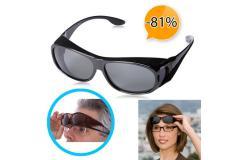 Overzet zonnebril met polariserende glazen