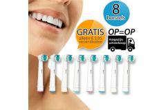 Gratis - 8 x opzetborstels voor Oral-B elektrische tandenborstels