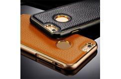 Elegante lederen smartphone case