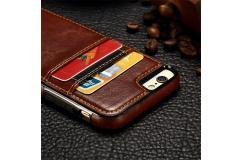 Ultradun leder-look smartphone hoesje - voor iPhone & Samsung!