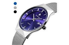 Chique en slank RVS horloge - waterproof!