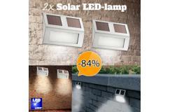 Set van TWEE solar LED buitenlampen
