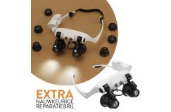 Vernieuwde reparatiebril met LED-lampjes: voor nauwkeurige reparaties!
