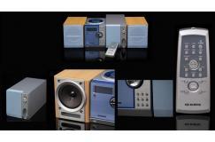 Stereotoren met subwoofer en twee luidsprekers
