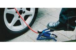 Voetpomp met manometer fiets / auto / motor / opblaasspeelgoed