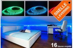 Sfeervolle 5 meter lange RGB LED lichtstrip