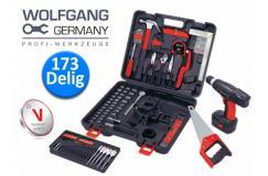 Wolfgang Germany 173-Delige Gereedschapsset met o.a.een Accuboormachine
