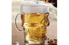 Doodshoofd bierglas 700 ml