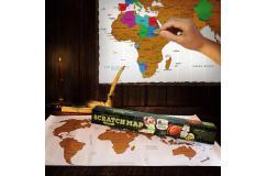 Scratch Map - Wereld Kraskaart